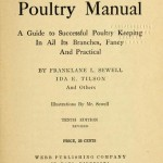 1908 Franklane L Sewell Poultry Manual