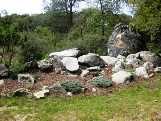 Demonstration rock garden