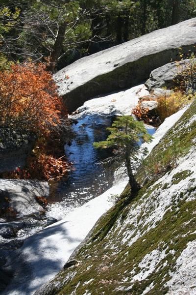 Whiskey Creek flows through this section of granite